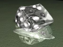Glass Dice melting by todd587