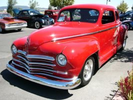1948 Plymouth Tomato Red Coupe by RoadTripDog