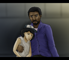 Lee and Clem by Wolf-Goddess13