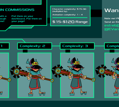 -COMMISSIONS OPEN- Idle Animations! by EVanimations