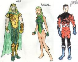 DC2 Earth 2 - Aquaman family by herrenmedia