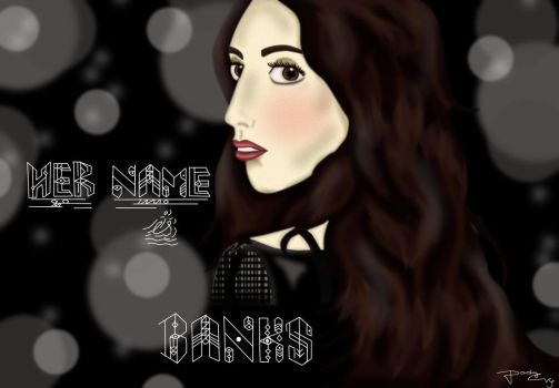 Her Name is BANKS (Colour Version) by CrazyCapricorn