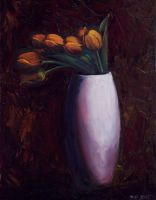 Tulips In Vase by mp2015