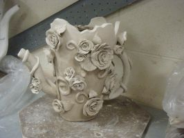 Ceramics - Rose Teapot by jackiesaloser