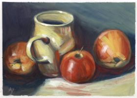 Apples' Mug by h-i-l-e-x