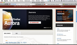 Firefox 6.0a1 on Snow Leopard by kanttii