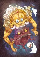 MahaKala eat rahu demon by In-Sine