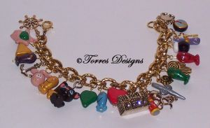 1st Wind Waker Charm Bracelet Legend of Zelda OOAK by TorresDesigns