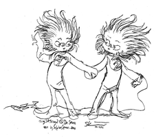 Thing 1 and Thing 2 by SulphurSpoon