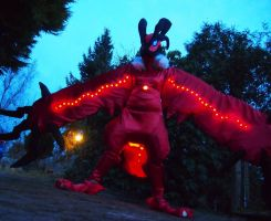 Yveltal Fullsuit WIP Light up by FlameTorchic