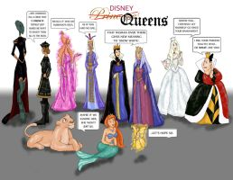 Disney Queens by berrypeculiar