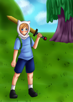 .:Adventure Time - Finn the Human:. by EriaHime