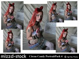 Circus Candy D Portrait Pack 4 by mizzd-stock