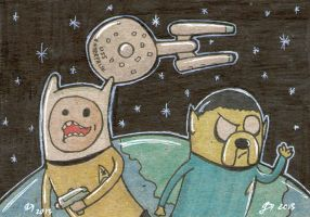 Adventure Time Star Trek by johnnyism