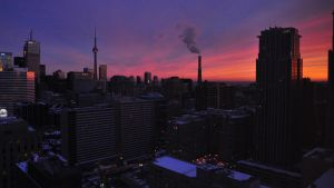 Toronto Winter Dusk Skyline I by Gynormus-Cranius