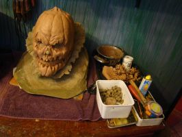 PumpkinHead Mask Sculpture 3 by purplenothing