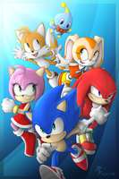Sonic and Friends by VegaColors