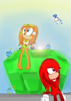 :Contest prize: Knuckles and Tikal by Cometshina