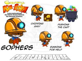 Canary Kaboom Gophers by chriscrazyhouse