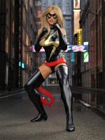 Ms Marvel pose 04 by DahriAlGhul