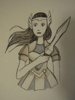 Inktober Day 29: Lady Sif by nocturnewitch