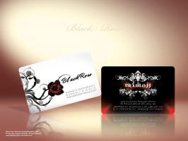 Black rose Business card II by Sepinik