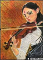 Autumn Harmony - ACEO by Katerina-Art