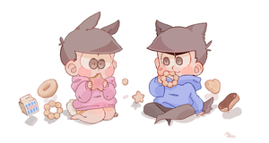 donuts 4 lunch !! by milkslushie
