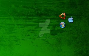 Green OS wallpaper by momentsb4autumn