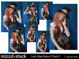 Lady Mad Hatter Portrait Pack5 by mizzd-stock