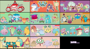 2015 monster stickers art summary by SolomonMars