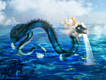 The Water Dragon by rainbowmirage