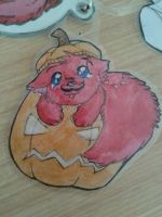 Happy Pumpkin Puppy in Disguise! by XxPuppyProductionsxX