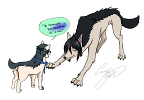 Yes My Lord(Black Butler wolves) by CarrilRego
