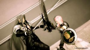 lightning vs sephiroth by kevsaxelle