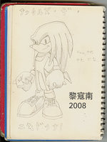 Knuckles 2008 Drawing by Likonan