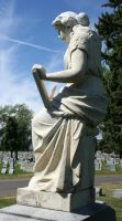 Mount Olivet Cemetery Woman 94 by Falln-Stock