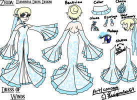 Element Dresses: Dress of Wind by luigirules64