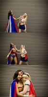 Wonder Woman vs Super Girl by esophia