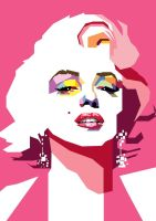 Marilyn Monroe in WPAP by wedhahai