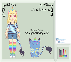 Ref - Astera the UniCat by StargazerSammie