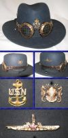 For My Father - Navy Trooper Hat by Windthin