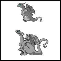 Hatchling Temp. Set - Dragon and Flitter by HeartofPern