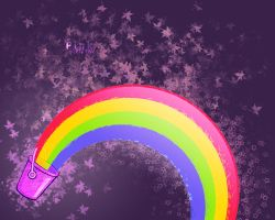 Pink Rainbow thingie. by grazx