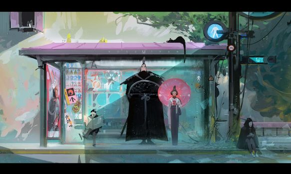 Bus Stop! by rossdraws