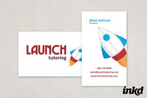 Playful Tutoring Business Card by inkddesign