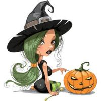 Free Vector Sexy Witch Girl with Halloween by cgvector