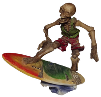 Surfing Skeleton 001 - Clear Cut PNG by Travail-de-lame