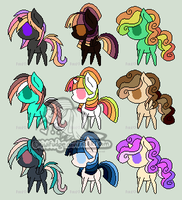 9 Pony Adoptables #22 [CLOSED] by wallabean