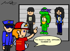 Donatello Gets Booked by DrQArt